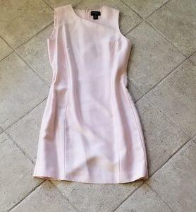 Silk Ann Taylor sheath dress. 8P. Pale pink.